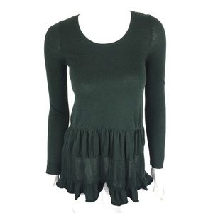 Knitted and Knotted Sweater XS Green